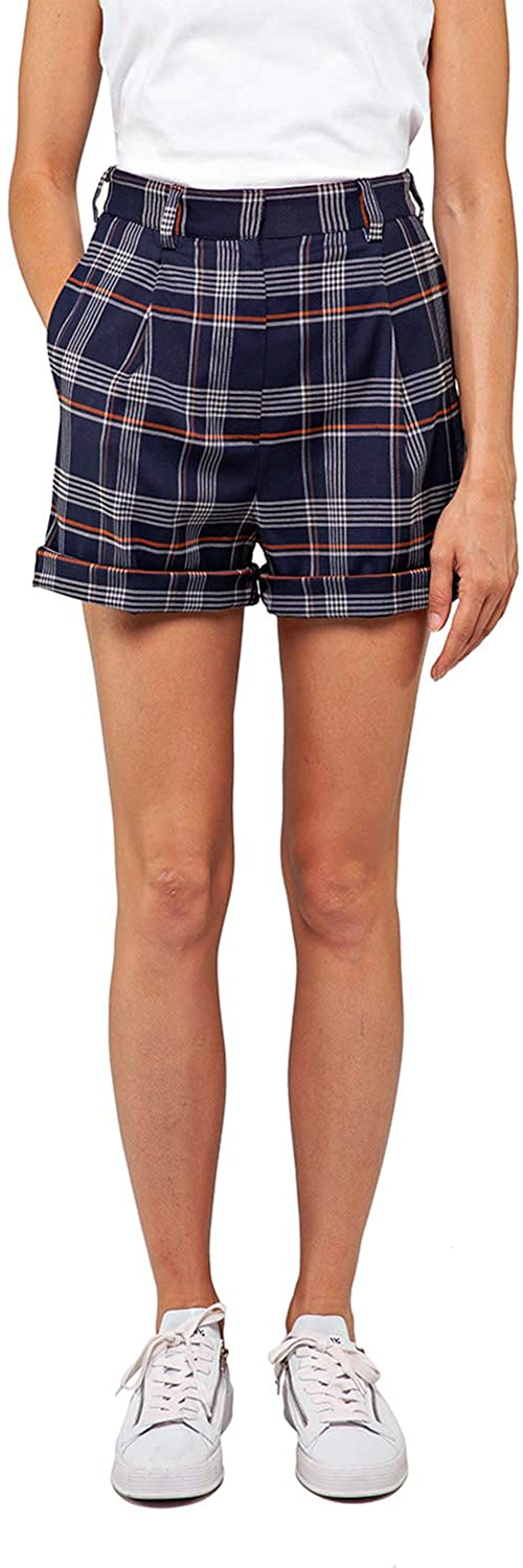 Replay Women's Checked Print Shorts