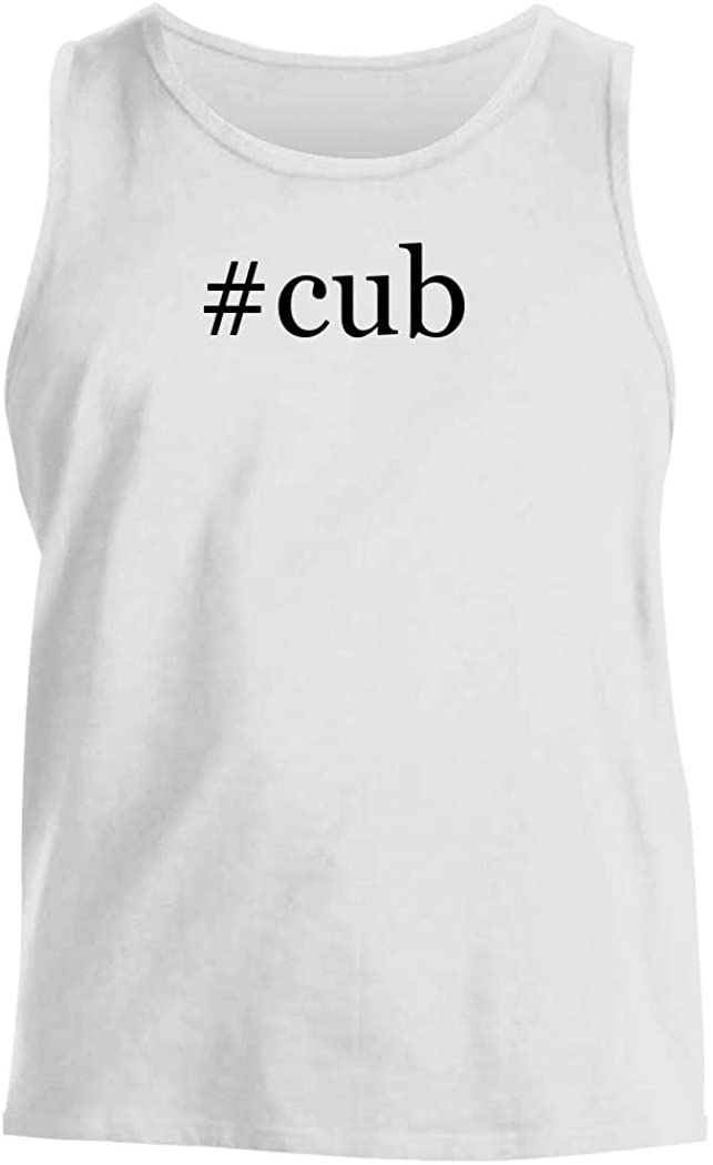 #cub - Men's Hashtag Comfortable Tank Top, White, Large