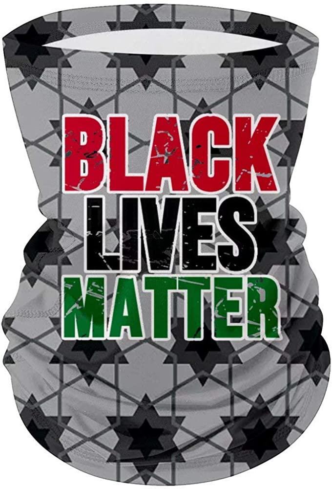 UV Resistence Magic Bandana Sunproof Seamless Black Lives Matter Neck Gaiter
