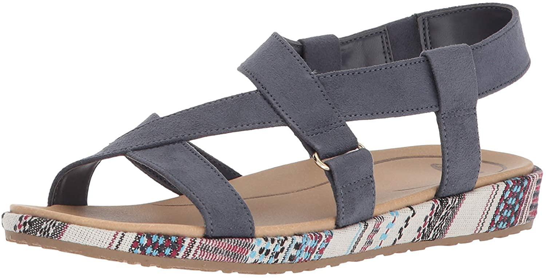 Dr. Scholl's Shoes Women's Preview Sandal, Oxide Microfiber, 7 M US