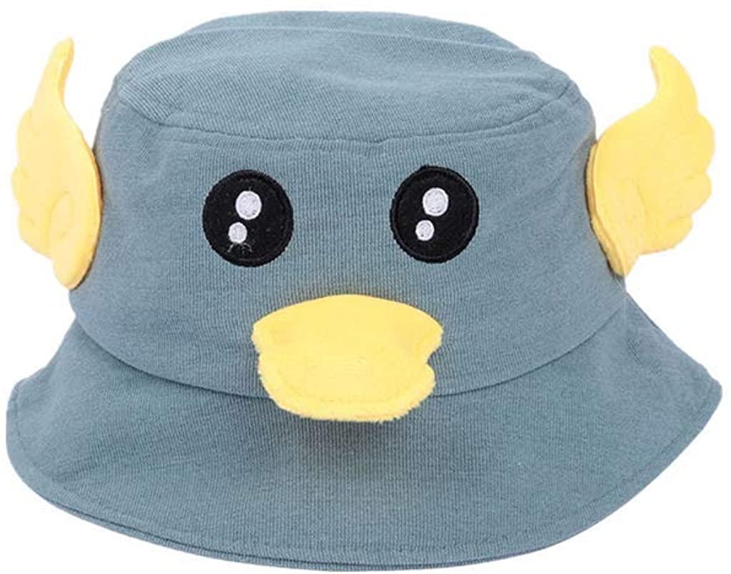 LENXH Girl Sun hat Cute Print Cap Cartoon Duckling Canvas hat Folding hat Outdoor Fisherman hat
