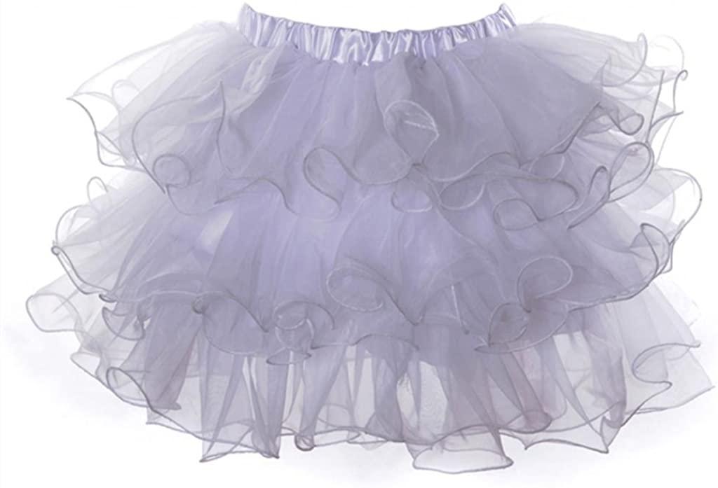 Lotsyle Mutli-Layer Lace Tutu Petticoat Corset Skirt
