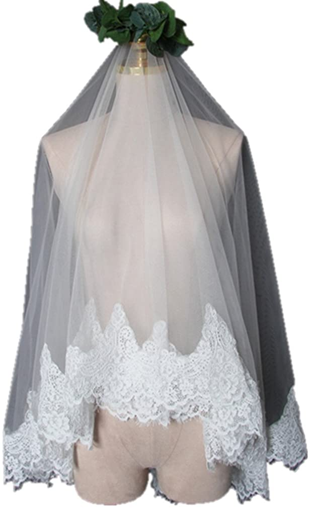 Yifuman Women's Custom Made Long 2 Tier Wedding Bridal Veil With Free Comb