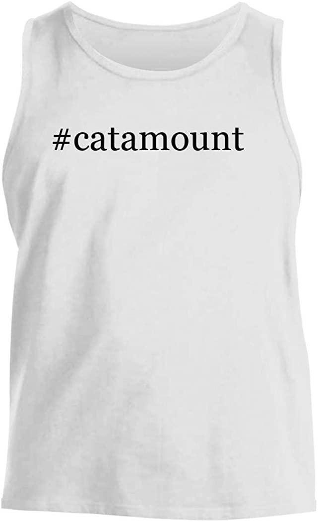 #catamount - Men's Hashtag Comfortable Tank Top, White, Small