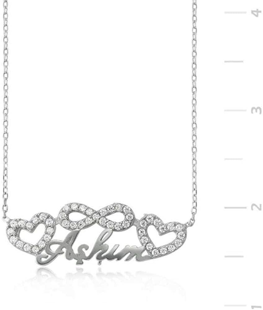 KOKANA Infinity Necklace, Turkish Word Askim Necklaces for Women and Girl, Girlfriend Gift, Birthday Gift