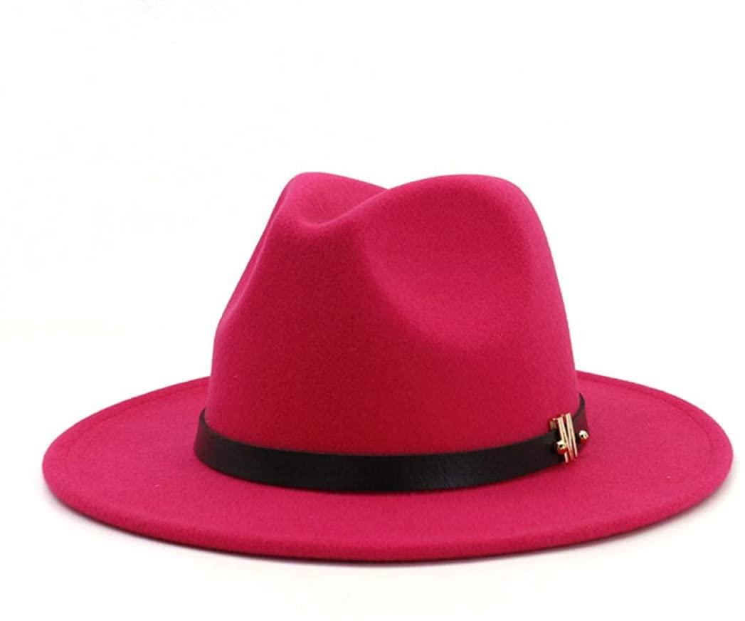 Large Size 60 cm Plain Wool Felt Jazz Fedora Hats Caps Men Women Wide Brim Vintage Panama Cap Bowler Hat