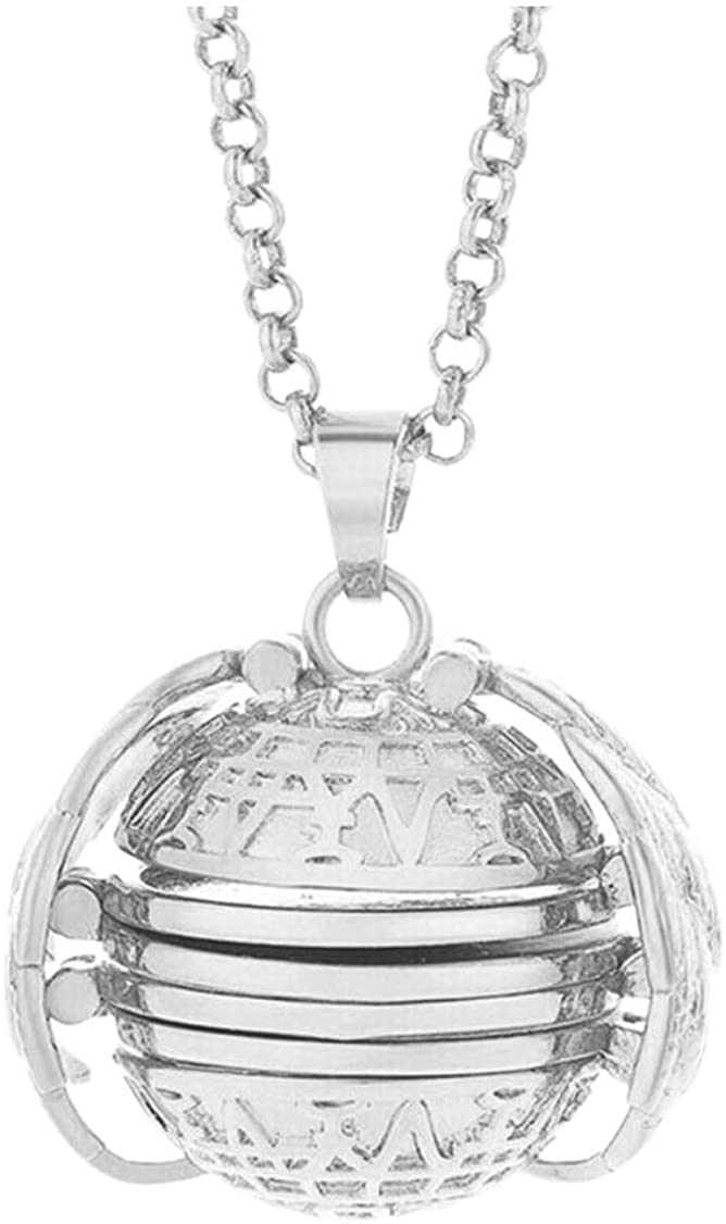 Expandable Photo Locket Necklace for Women Girls Men Holds 4 Pictures Unique Jewelry Gift Fashion Accessory