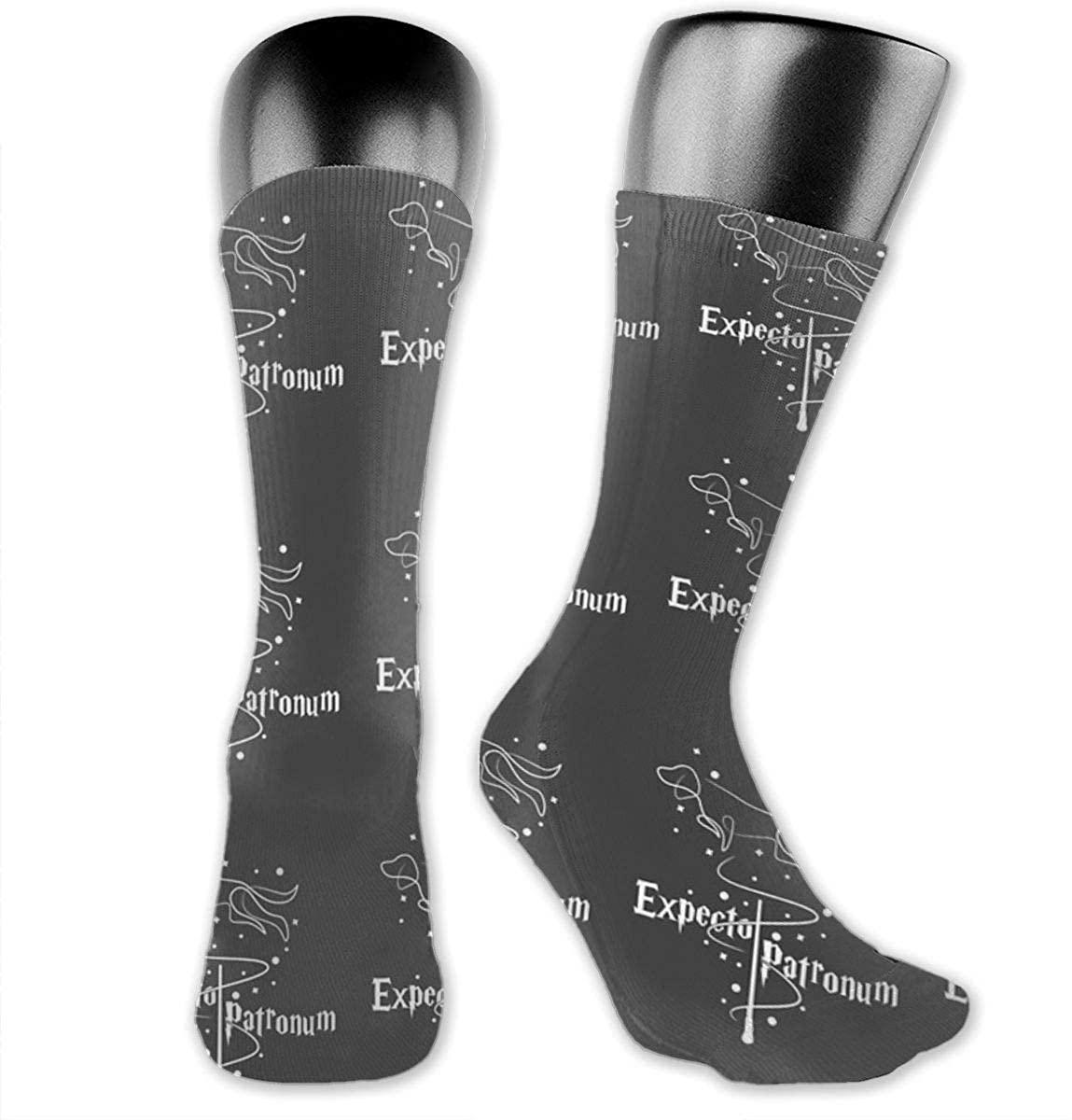 Unisex Crazy Funny Cool Expecto Patronum - Dog - Ron Socks Colorful Athletic Medica Socks Novelty Casual Crew Socks