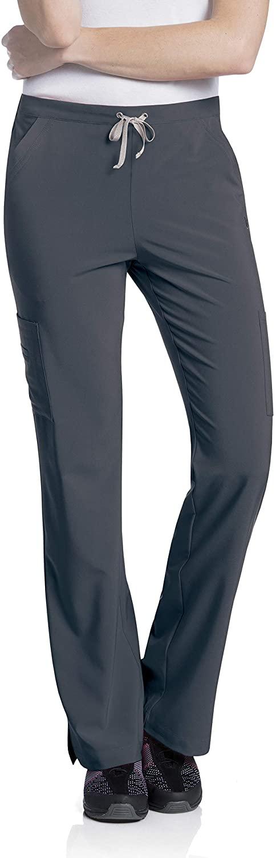 Urbane Women's 4-Way Stretch Cargo Pant-Mositure Wicking Scrubs, Graphite, Large