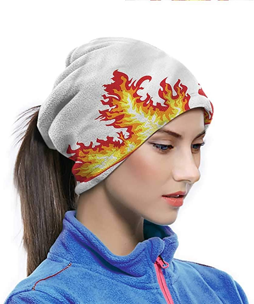 Hairwraps Yellow And Red, Flame Burning Fury Dust Protection Face Cover Great for Under a Hard Hat 10 x 11.6 Inch