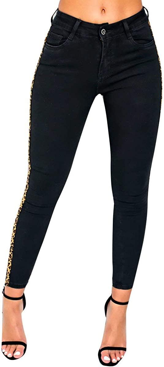 IKRUSH Womens Hails Striped Mid Rise Skinny Jeans