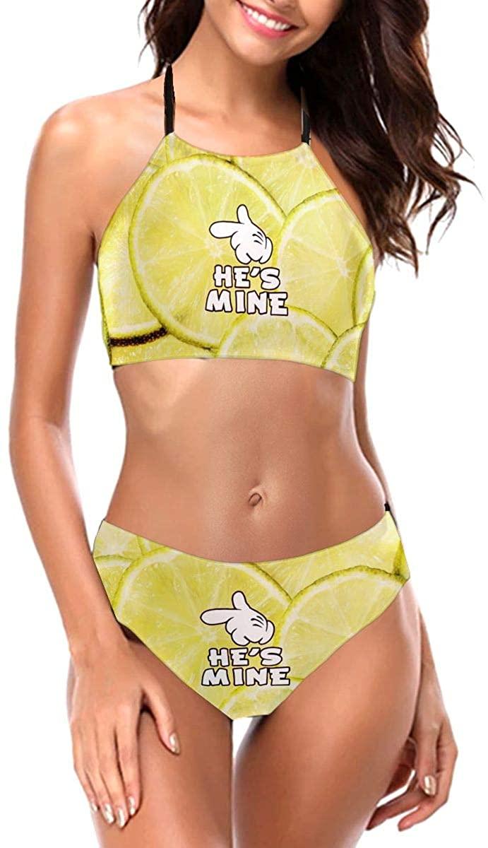 Cartoon Hands I'm Hers - He's Mine Women Bikini Set Bralette Swimsuit Bathing Suit