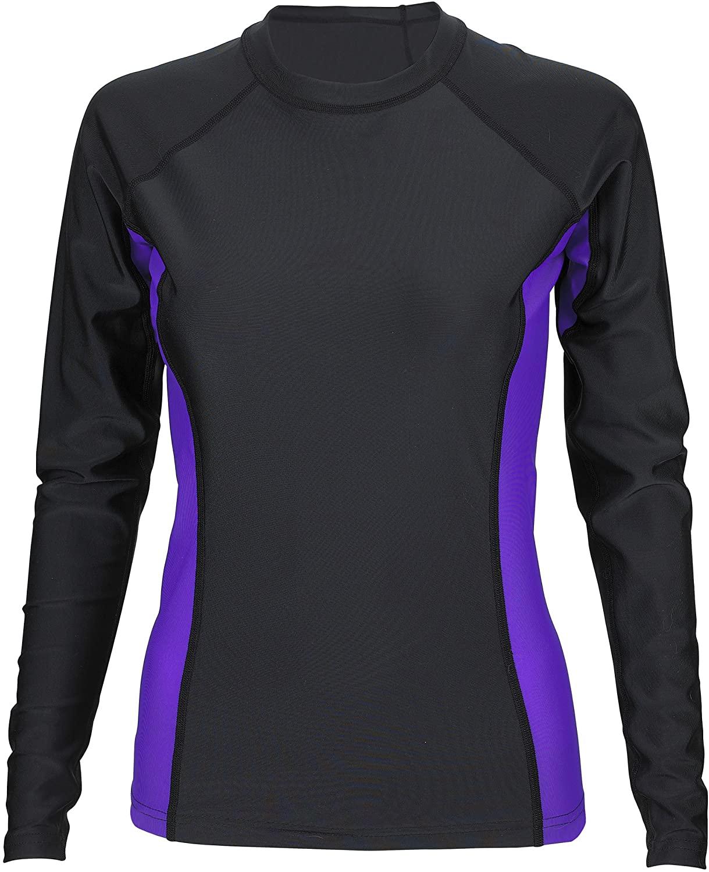 Phantom Aquatics UV Protection Long Sleeve Rash Guard, BK-PR, Medium