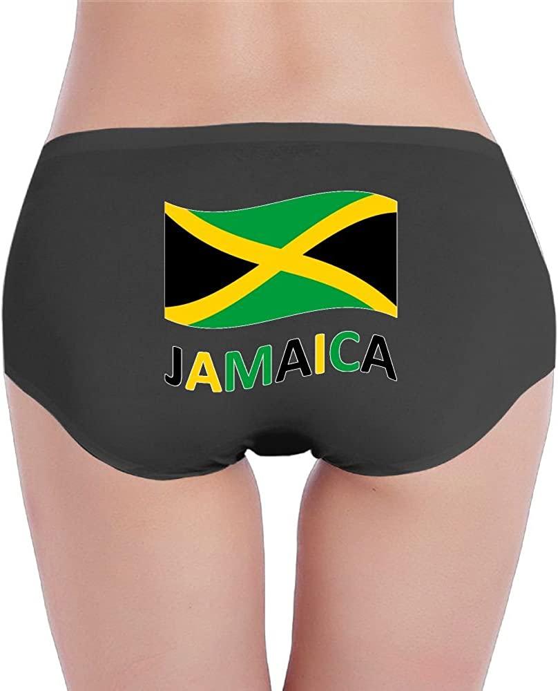 CMEY Jamaican Flag Women's Underwear Seamless Low Waist Briefs Stretch Panties