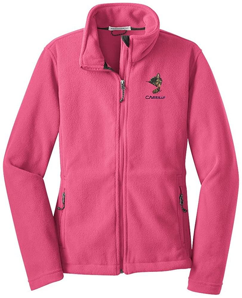 Daylight Sales Chessie The Kitten Embroidered Fleece Full Zip Jacket(fleece91)