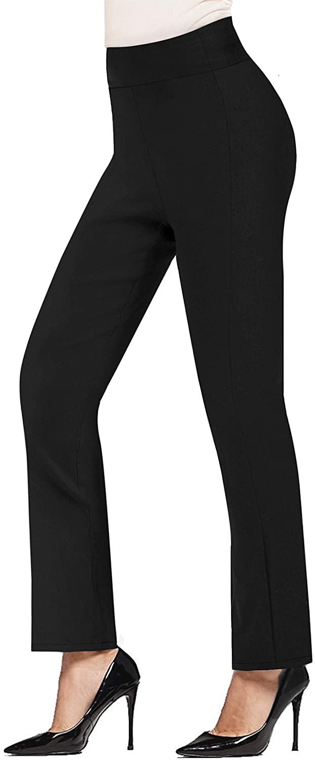 Hybrid & Company Womens Pull on Business Millennium Bootcut Skinny Pants with Prints
