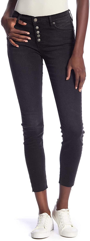 Free People Women's Reagan Raw Jeans in Black