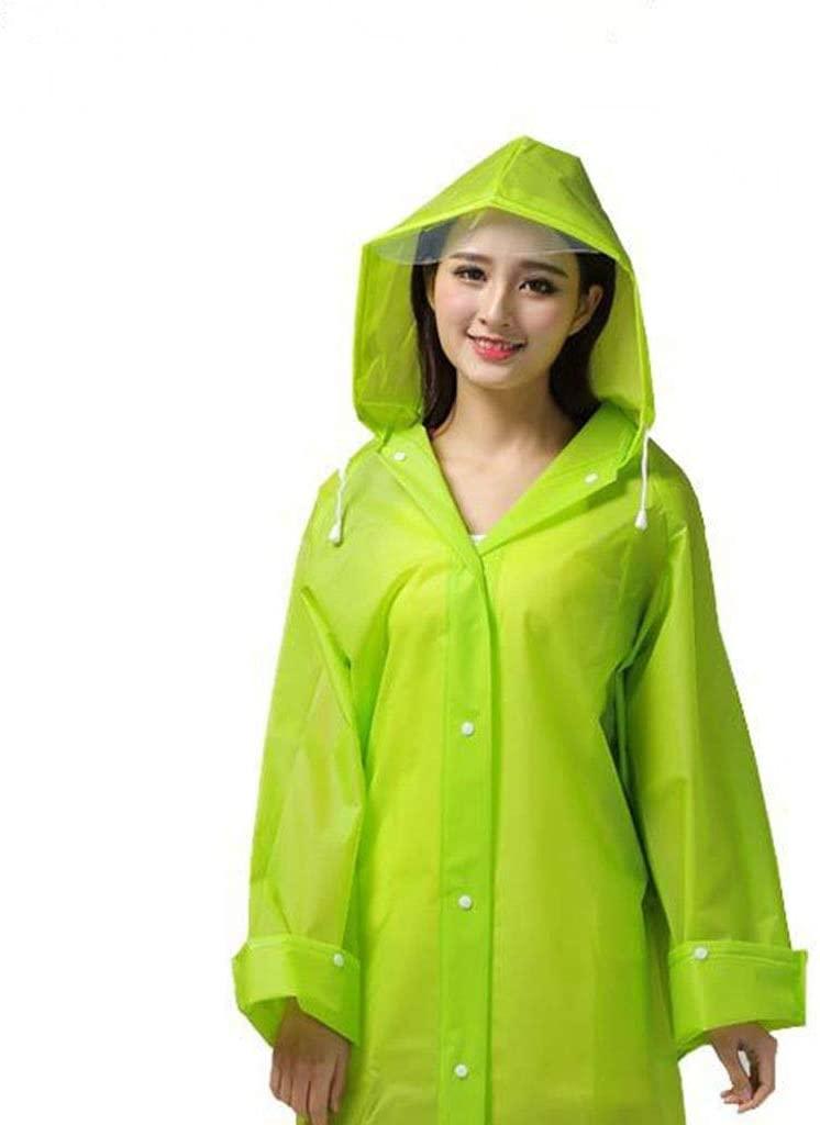 QTWL Portable Raincoat Adult Raincoat Mountaineering Raincoat EVA Translucent Raincoat Non-Disposable Fashion Backpack Raincoat Non-Toxic, Non-Plastic, Environmentally Friendly,
