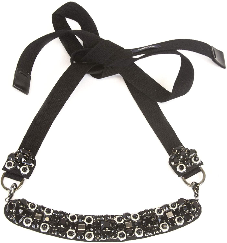 Max Mara 'S Women's Rango Crystal Embellished Necklace One Size Black