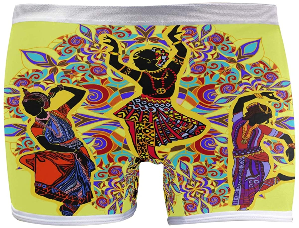 HangWang Womens Hipster Panties Underwear Beautiful Cute India Dancers Ladies Soft Boyshort Panty