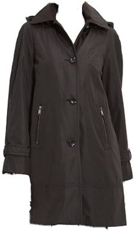 Marc New York Andrew Marc Caroll Coat Jacket Detachable Hood Small Black