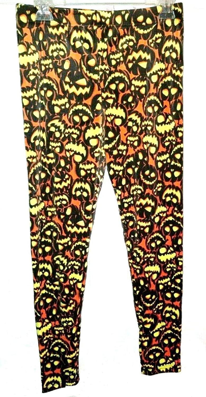 No Boundaries New Halloween Super Plush Ankle Leggings Jack O Lanterns Small Juniors Black