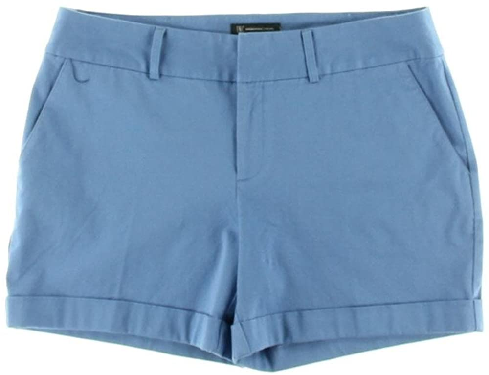 INC International Concepts Size 16 Regular Fit Cuffed Shorts Blue Chill