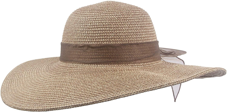 TOP HEADWEAR Womens Fashion Floppy Sun Hat w/Lace Bow