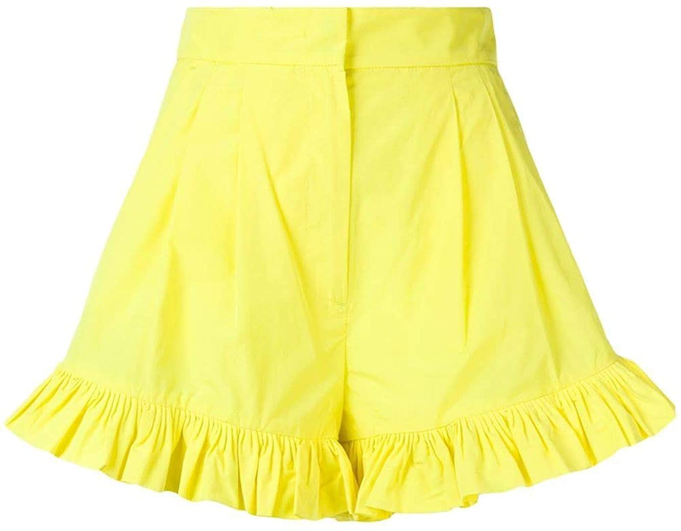 MSGM Luxury Fashion Woman 2642MDB10119530806 Yellow Cotton Shorts | Spring Summer 20