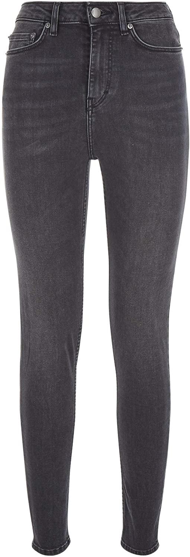 BLK DNM Women's Ankle Skinny Jeans, Adler Black, 26x32