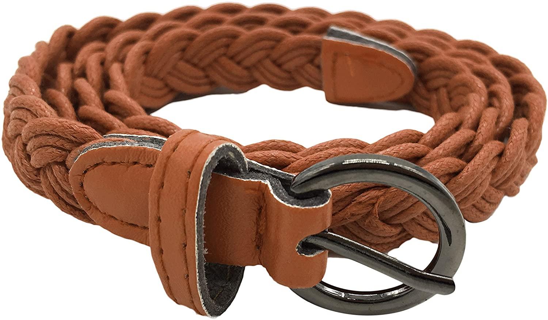 Women Girls Basic Belt Fashion Woven Hemp Rope Design Waist Band Multi-colors