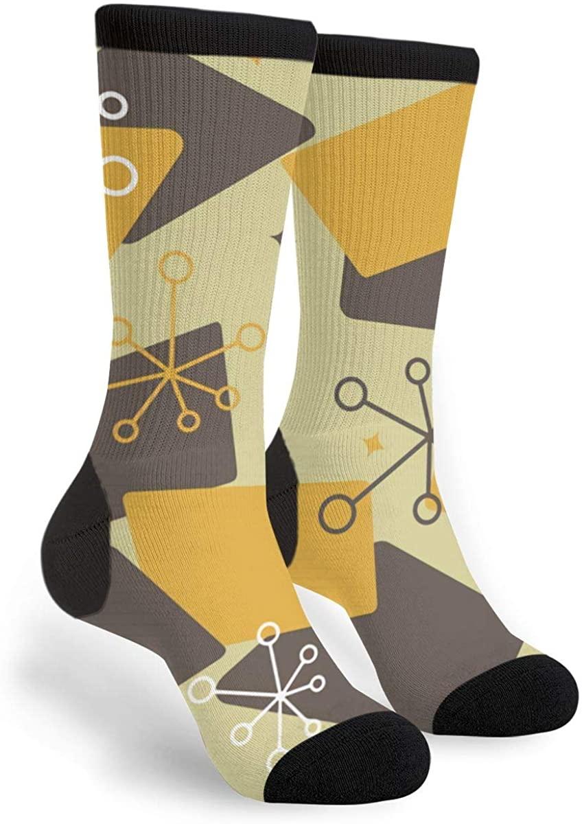 Mid Century Modern Futuro Women'S Men'S Crew Socks Casual Fun Dress Socks Long Cute Socks