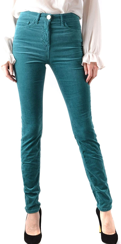 ELISABETTA FRANCHI Luxury Fashion Woman MCBI37899 Green Cotton Jeans | Season Outlet