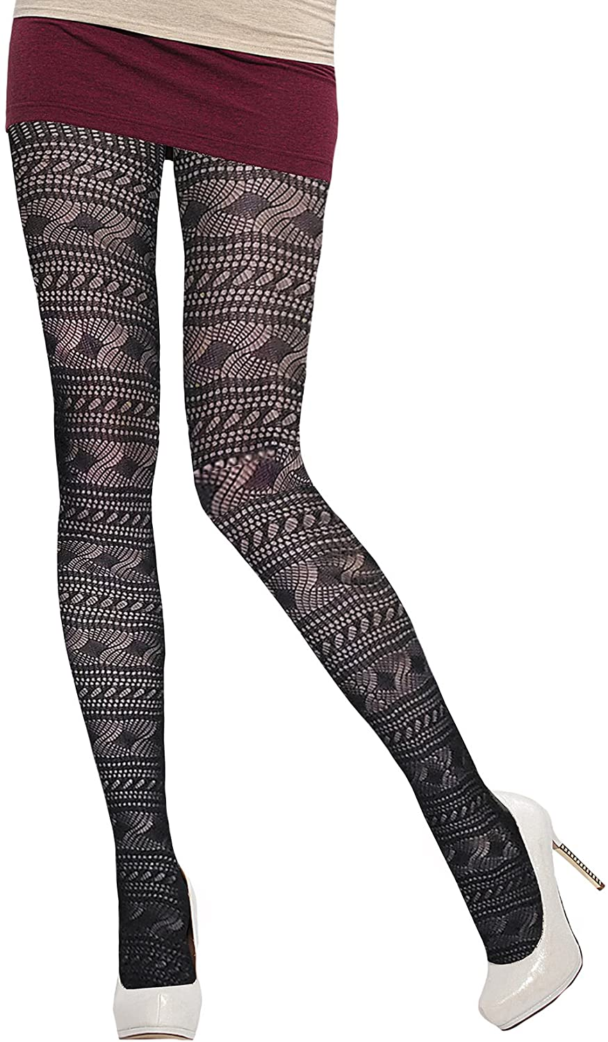 Jacquared Tights Inspiration for Women by Knittex