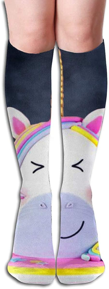 Socks Rainbow Stripe Unicorn Vintage Womens Stocking Accessory Sock Clearance for Girls