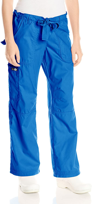 KOI Womens Lindsey Ultra Comfortable Cargo Style Scrub Pants Sizes, Royal, Small/Petite