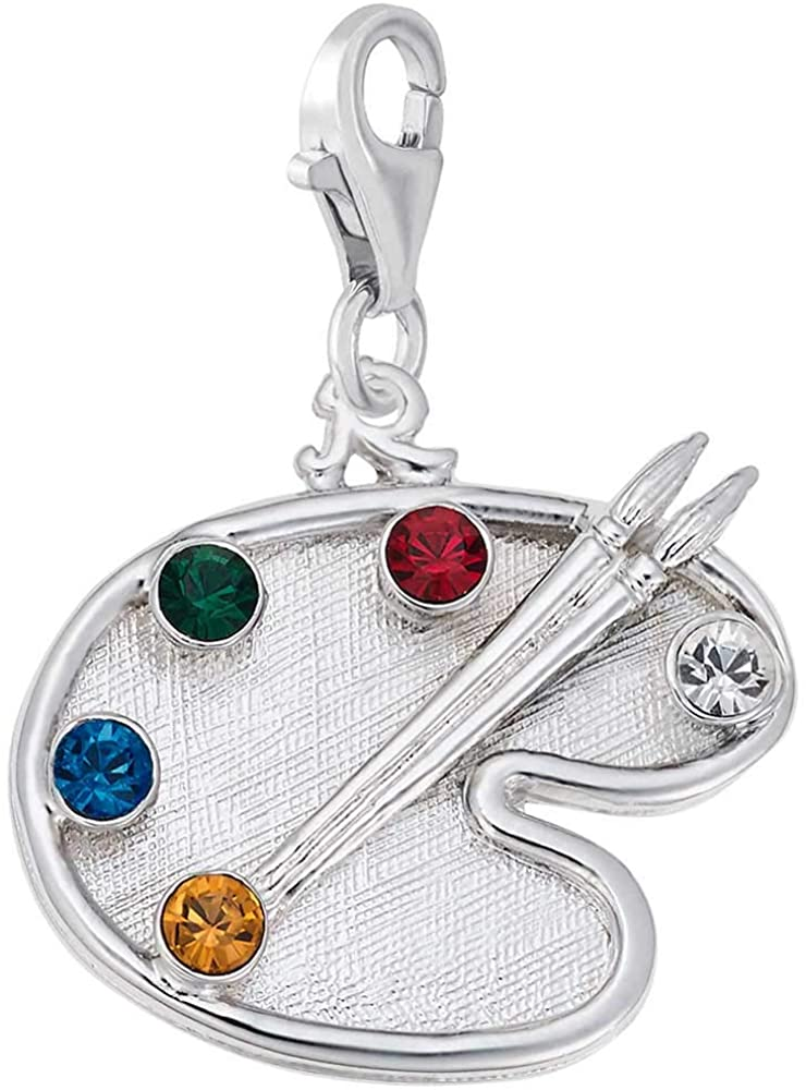Rembrandt Charms Artist Palette Charm with Lobster Clasp