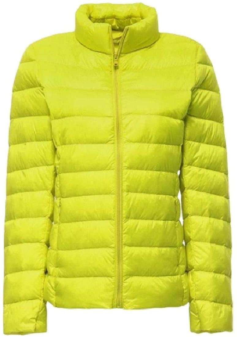 Fubotevic Womens Lightweight Stylish Stand Collar Quilted Zip-Up Down Jackets