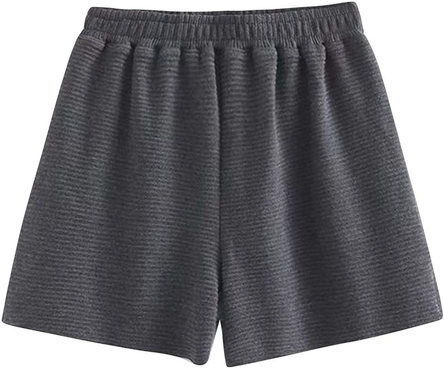 ZGZZ7 Women's Summer Casual Short High Waist Wide Leg Running Active Cotton Shorts
