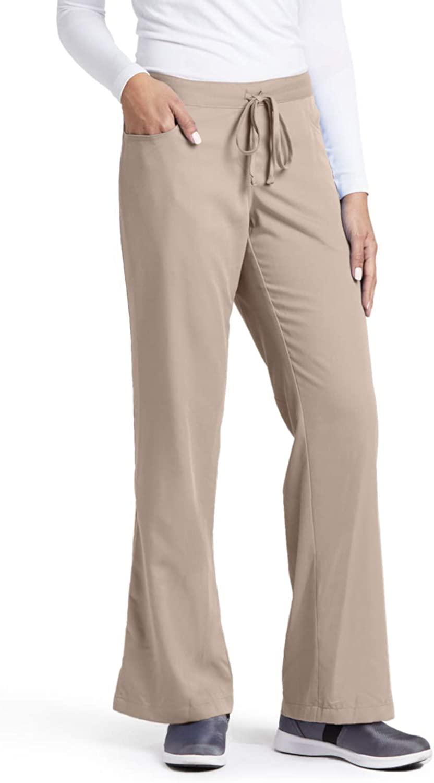 Grey's Anatomy 4232 Tie Front Pant Khaki XL Tall