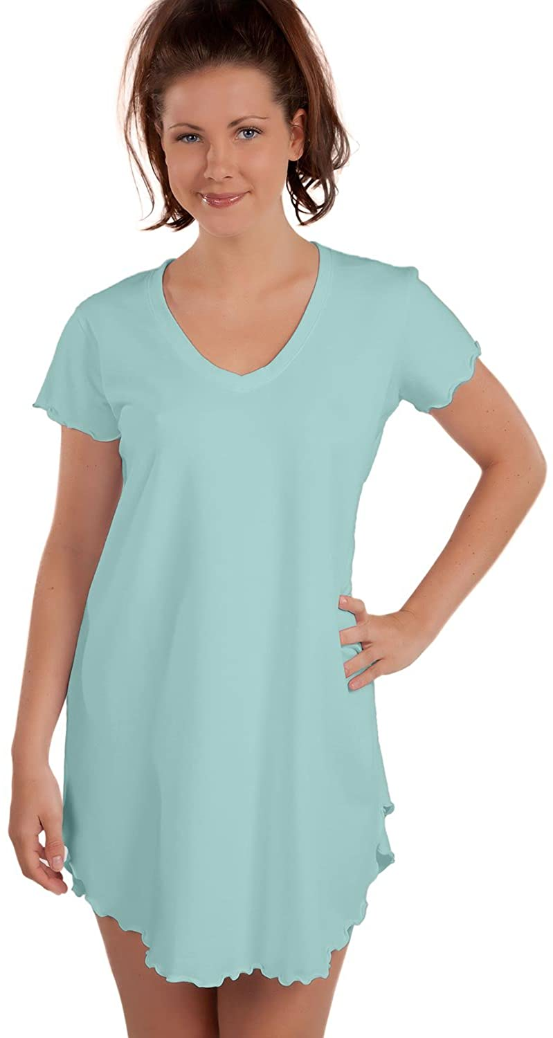 Knockout Knock Out! Cotton Wicking Nite-Tee, S, Sky