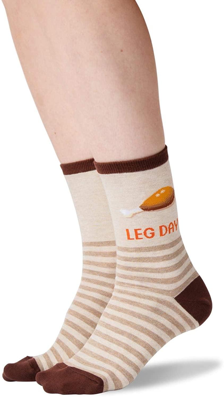 Hot Sox Womens Leg Day Crew Socks