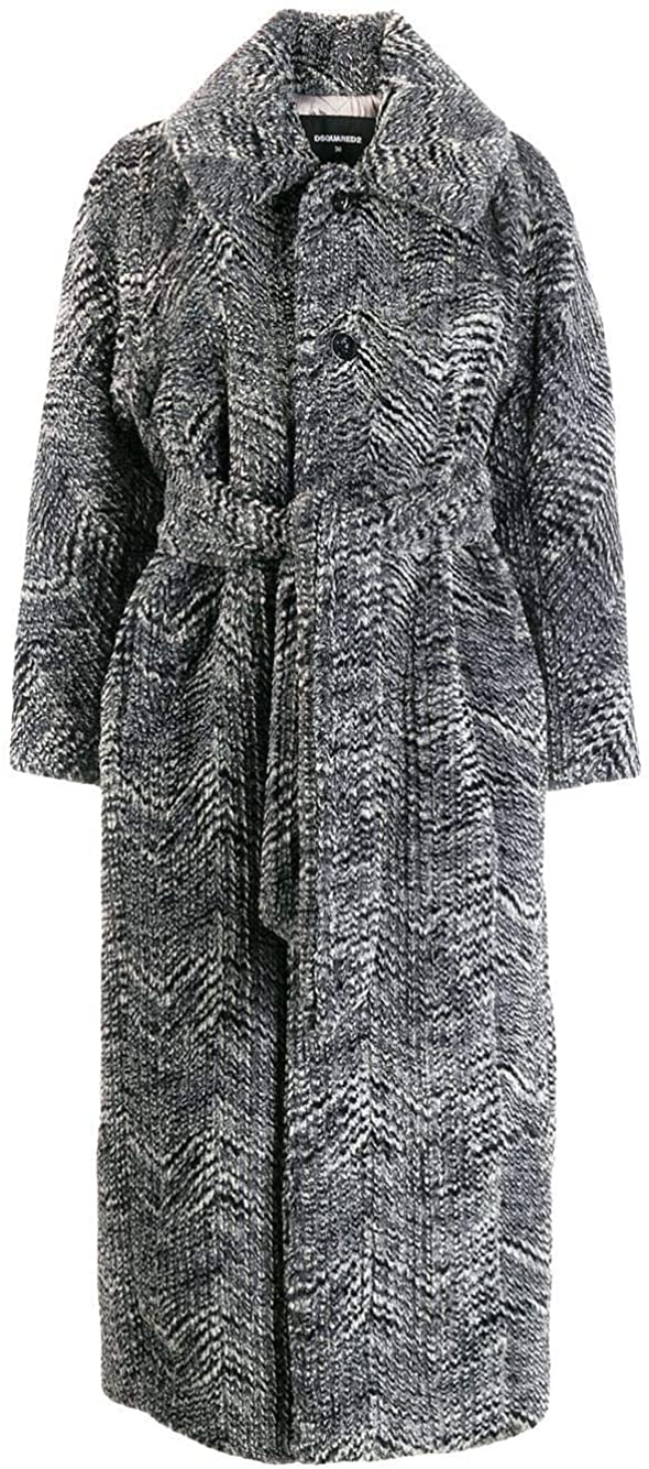 DSQUARED2 Luxury Fashion Woman S75AA0291S52062001F Grey Polyester Coat | Fall Winter 19