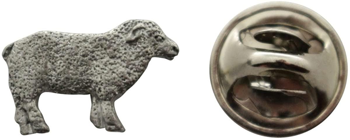 Sheep Mini Pin ~ Antiqued Pewter ~ Miniature Lapel Pin ~ Sarah's Treats & Treasures