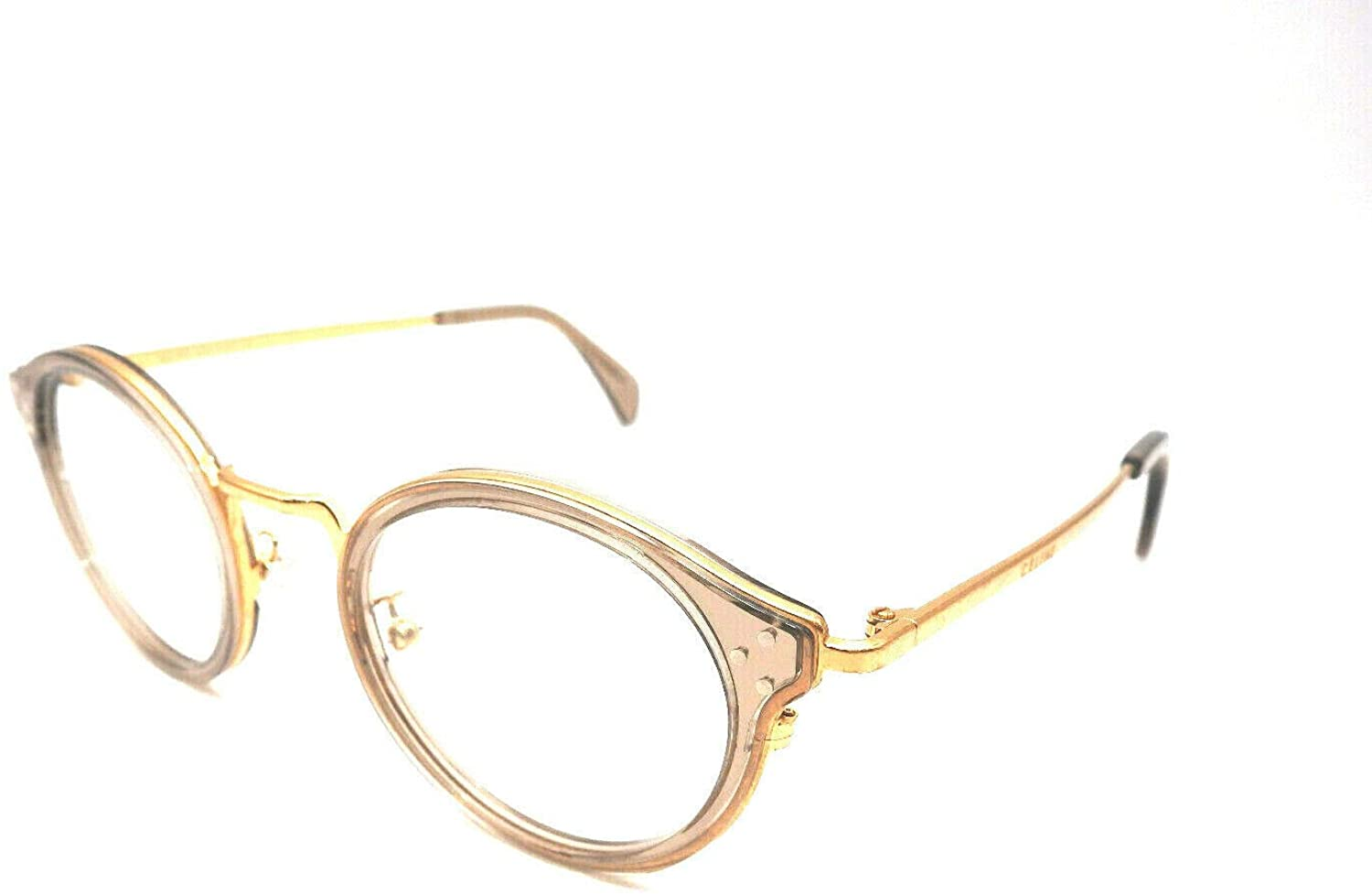 Celine CL50001U - 059 METAL Eyeglass Frame Distressed Gold/Grey 46mm