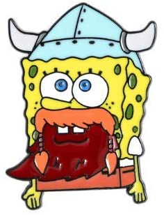 Kolag Co. Leif Erikson Spongebob Squarepants Enamel Pin