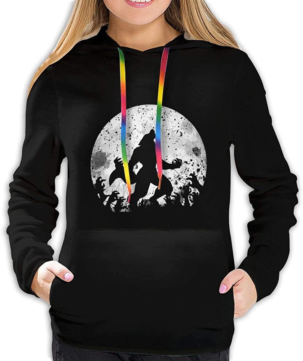 AP.Room Ladies Long Sleeve Fashion Werewolf Logo Hoodie Pullover