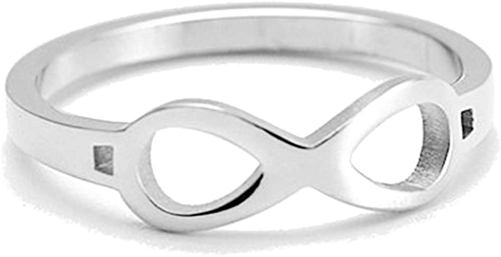 Jude Jewelers Stainless Steel Infinity Styel Promise Statement Anniversary Ring