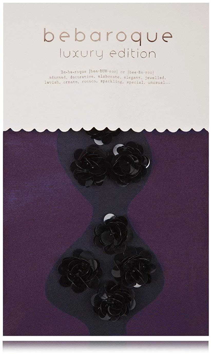 BEBAROQUE DECORATIVE DAHLIA Purple Tights