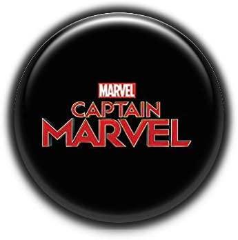 Logo Captain Marvel 1 : Superheros, Pinback Button Badge 1.99 Inch (38mm)